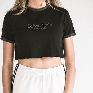 Tops - Black Calvin Klein Crop Top Sz S